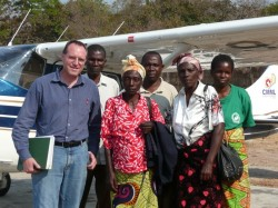 Dr John and 2 ladies requiring surgery. We flew them to Chitokoloki where several doctors gathered to do training.