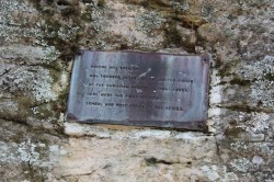 Plaque on Kalene Hill