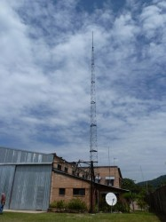 Tower for distributing the internet signal